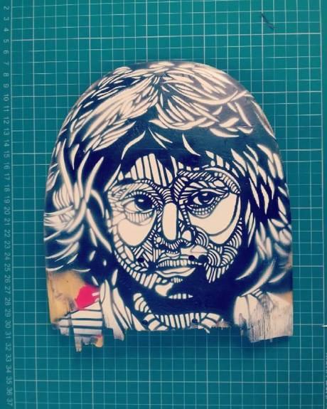 Face (2016), stencil.