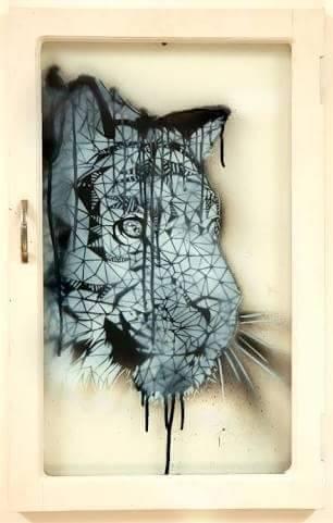 Tiger (2016), stencil.