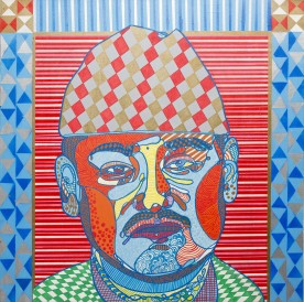 Royal Pop & Son (2012), 36 x 36 inches, acrylic on canvas.