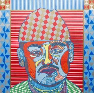 Royal Pop & Son (2012), 36 x 36 inches, acrylic on canvas.