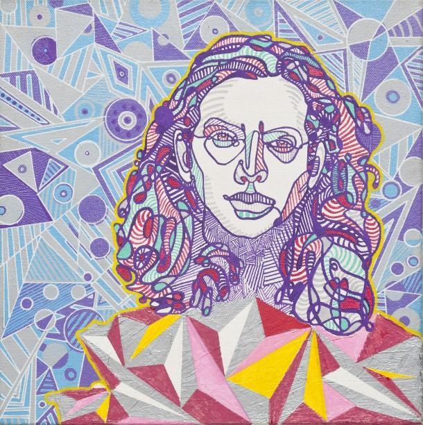 Eddy Vedder (2012), 12 x 12 inches, acrylic on canvas.