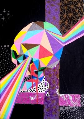 Geo-Death (2013), 12 x 15 inches, acrylic on canvas.