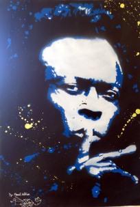 Miles Davis (2014), stencil on paper.