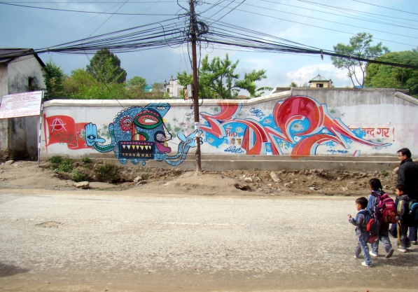 Collaboration with Poze (2012), Kathmandu (Nepal).