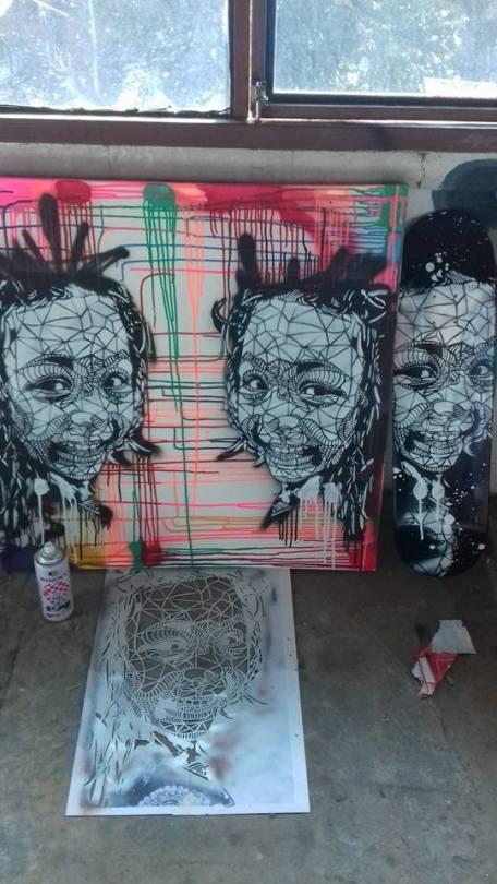 Faces (2015), stencil.